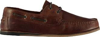 Firetrap Mens Avisos Boat Shoes Lace Up Leather Upper Brown UK 11 (46)