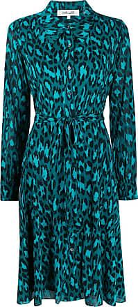 Diane Von Fürstenberg Chemise animal print - Azul