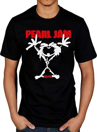 AWDIP Official Mens Pearl Jam Stickman T-Shirt, S, Black