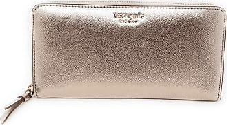 Kate Spade New York Cameron Large Continental Wallet Saffiano Leather Metallic Blush Rose Gold