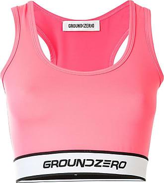Ground-Zero Blusa cropped com logo - Rosa