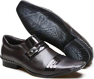 Calvest Sapato Social Masculino Calvest em Couro Detalhe Verniz com Costura Manual - Café 1750B475-37