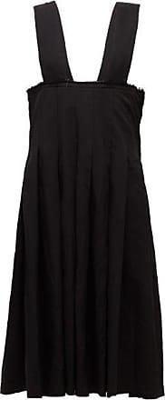 Comme Des Garçons Comme Des Garçons Comme Des Garçons - Raw-edge Pleated Pinafore Dress - Womens - Black