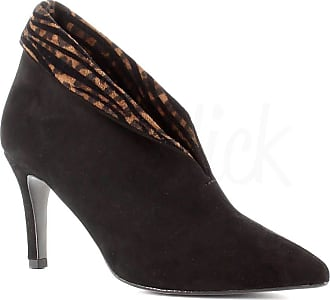 Generico Generic Made in Italy Suede and Heel Boot - Black Black Size: 7 UK