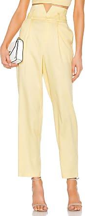 Fleur du Mal V Waist Trouser in Yellow