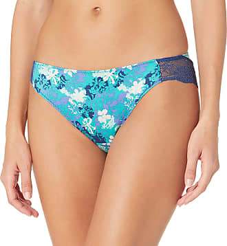 Escante Womens Ruffle Mesh Open Crotch Lace Bikini