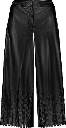 Opening Ceremony Opening Ceremony Woman Laser-cut Faux Leather Culottes Black Size 0