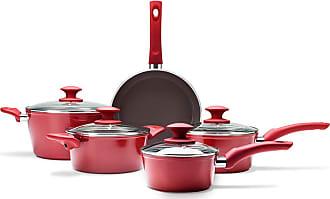 Brinox Jogo de Panelas 5Pçs Ceramic Life Optima Vermelho - Lifestyle - Único BR