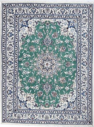 Nain Trading 202x150 Orientalischer Nain Teppich Dunkelgrau/Beige (Persien/Iran, Wolle, Handgeknüpft)