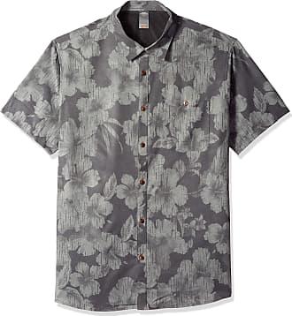 Quiksilver Mens TECH RAINDAYS Shirt Button, Black, Large