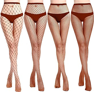 ff96d08ca HooH Womens 4 Pairs Sexy Fishnet Pantyhose Mesh Tights Net Stockings 12  Colors Available