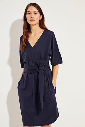 Brunello Cucinelli Baumwoll-Kleid mit Perlen-Details Marineblau - 100%  Baumwolle Made in c994ee1637