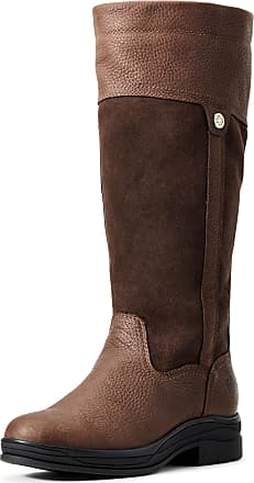Ariat Womens Windermere II Waterproof Boots in Brown Leather, FM Width, Size 3.5, by Ariat