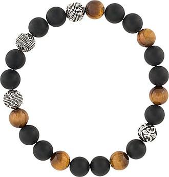 Nialaya engraved bead bracelet - Multicolour