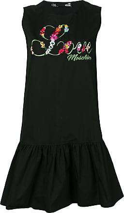Love Moschino embroidered shift dress - Black