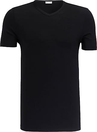 Zimmerli V-Shirt PURENESS - SCHWARZ