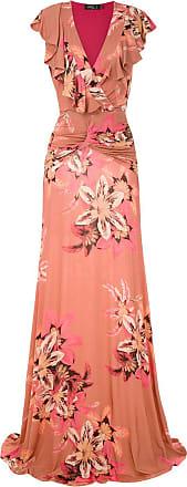 PatBo Vestido longo floral com babados - Estampado