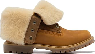 Timberland Authentics Shearling Fold Down Boots - Wheat