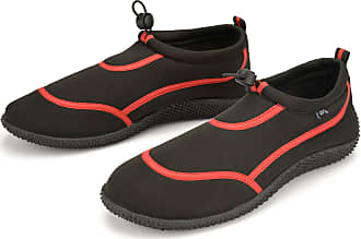 Urban Beach Wet Shoes Mens Adult Size Aqua Beach Surf Water Swim Foot Protection (Red & Black, Numeric_11)