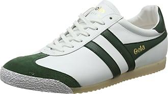 Gola Men Harrier 50 Leather Sneakers, White (White/Green Winter), 6 UK ( 40 EU)
