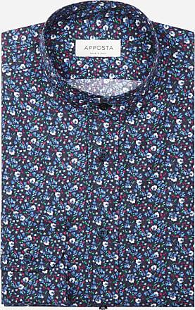 Apposta Camicia disegni a fiori multi 100% puro cotone popeline, collo stile coreana