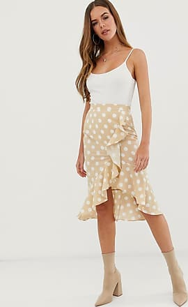 In The Style polka dot ruffle wrap skirt-Multi