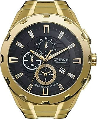 Orient Relógio Orient Masculino Ref: Mgssc008 P1kx Cronógrafo Dourado