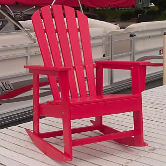 POLYWOOD Outdoor POLYWOOD South Beach Recycled Plastic Adirondack Rocking Chair Hunter Green - SBR16GR