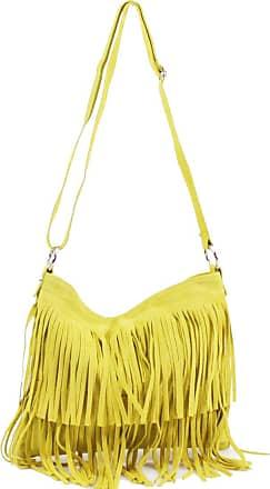 Your Dezire Ladies Suede Leather Tassel Cross Body Messenger Bag Women Shoulder Over Bags Handbags (Yellow)