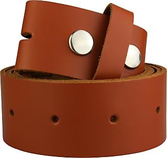 2Store24 Real Leather Snap on belt in brown | Waist size 110