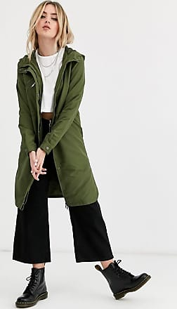 Noisy May Krista long sleeve parka jacket-Green