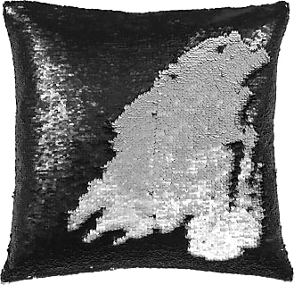 Pad Black/silver Sequin Cushion - Black/Silver