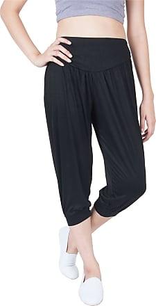 Lofbaz LOF Womens Capri Yoga Pants Rayon Spandex Plus Size - Black 1 4XL