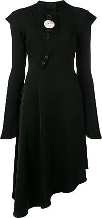Ellery asymmetric flared dress - Preto