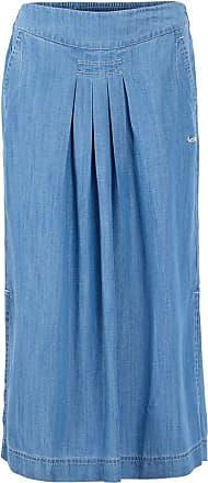 Weird Fish Iona Tencel Midi Skirt Light Denim Size 8