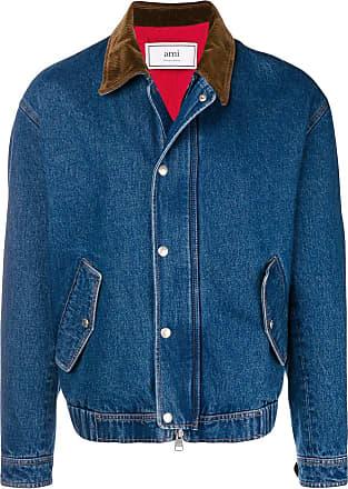 Ami Zipped Denim Jacket - Blue