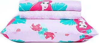 Disney Jogo de Lençol Infantil Microfibra 150 Fios Toque Aveludado Disney Ariel