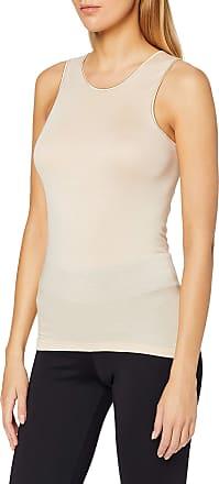 Naturana Womens Vest Tank Top, Beige (Light Beige), 12 (Size:Medium)