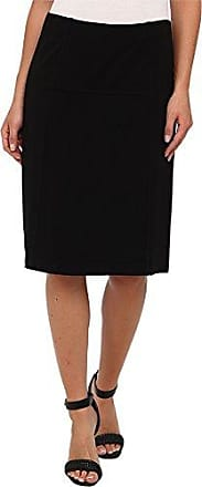 Nic+Zoe Womens New Ponte Flirt Skirt, Black Onyx X-Large