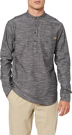 Only & Sons Mens onsTOBY LS HALFPLACKET SLUB Shirt Casual, Grey (Medium Grey Denim), S