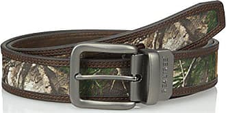 Realtree Mens Reversible Belt with Camo Inlay, Camo/Brown, 38/40