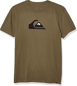 Quiksilver Mens COMP Logo TEE Shirt, Kalamata, Medium