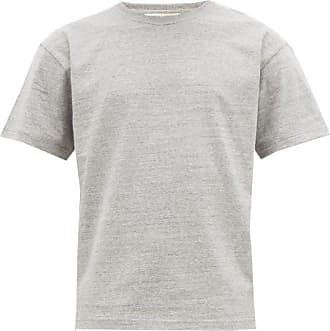 Bottega Veneta Logo-embroidered Cotton-jersey T-shirt - Mens - Light Grey