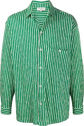 Ymc You Must Create Camisa de tricô com listras - Verde