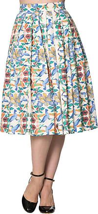 Banned Womens A-Line Polka Dot Skirt Beige Beige - Beige - 10