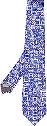 Canali Gravata com estampa - Azul