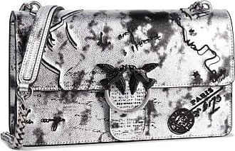Pinko Bag love romantic shoulder strap 1P21FB Y5U8 ZZF silver