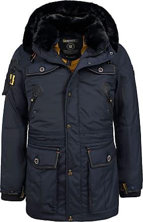 Lambretta Parka Coat Mens Fishtail Warm Lined Honeycomb Hooded Bonded UK M-4XL