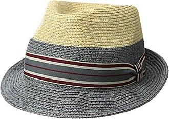 Bailey Mens Rokit Braided Fedora Trilby Hat with Stripe Band b28e4b4b882a