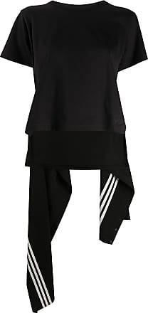 Yohji Yamamoto Camisa desconstruída com drapeado - Preto
